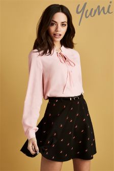 Yumi Printed Skater Skirt
