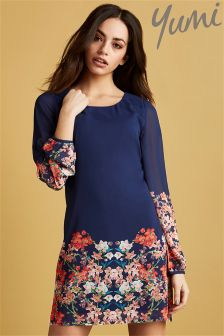 Yumi Blossom Print Tunic Dress