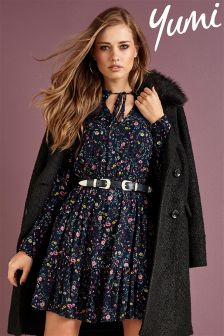 Yumi Floral Printed Tea Dress