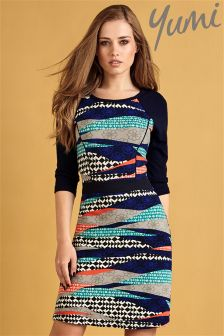 Yumi Stripe Print Tunic Dress