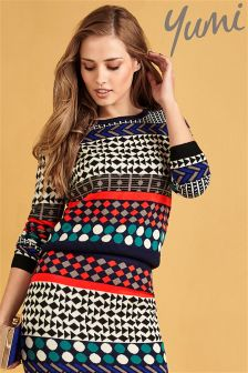 Yumi Jacquard Pattern Knitted Jumper