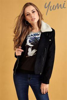 Yumi Suedette Biker Jacket