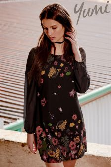 Yumi Boho Flower Tunic Dress