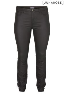 Junarose Plus Size Slim Fit Coated Trousers