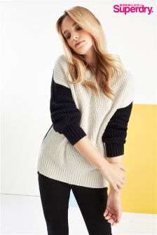 Superdry Colour Block Rib Knit