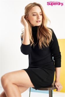 Superdry Knit Funnel Neck Dress