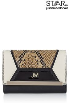 Star by Julien Macdonald Snake Patch Work Medium Flapover Purse