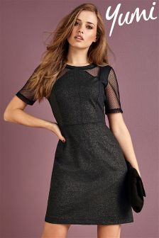 Yumi Mesh Cutout Dress