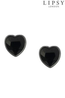 Lipsy Single Stone Heart Stud Earrings