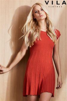 Vila Short Sleeve Dress