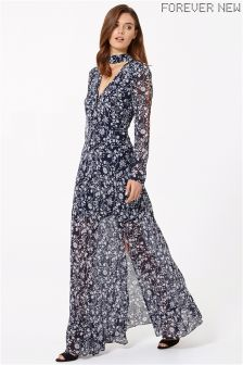 Forever New Deep V Split Maxi Dress