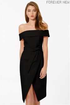 Forever New Bardot Tie Waist Dress