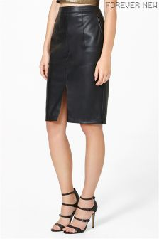 Forever New Panelled PU Pencil Skirt