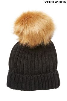 Vero Moda Fur Bobble Hat