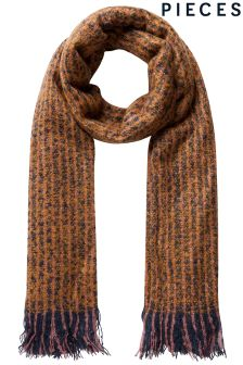 Pieces Long Knitted Scarf