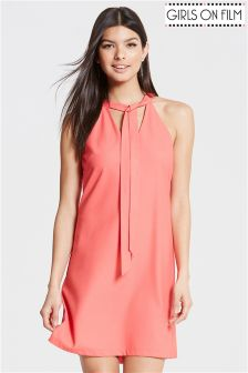 Girls On Flim Coral Sleeveless Tunic