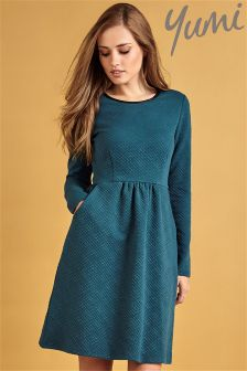 Yumi Textured Ponte Dress