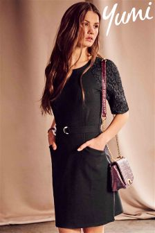 Yumi Buckle Ponte Dress