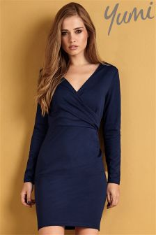 Yumi Ponte Wrap Dress
