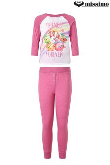 Missimo Girls Shopkins Marl Jersey PJ Set