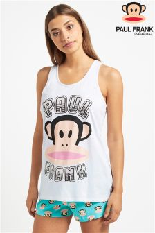 Paul Frank Ladies Rainbow Foil Print Racer Back Vest And Short PJ Set