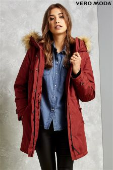 Vero Moda Faux Fur Hooded Parka