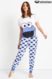 Missimo Ladies Oversized Sesame Street PJ Set