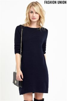 Fashion Union Ribbed Dress