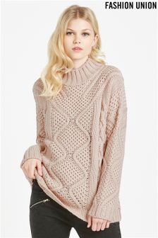 Fashion Union Cable Knit Jumper