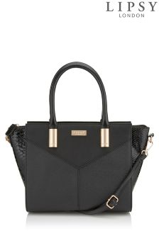 Lipsy Mock Croc Winged Tote