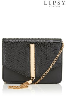 Lipsy Mock Croc Cross Body Bag