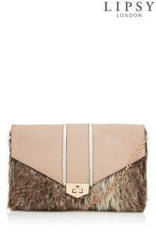 Lipsy Faux Fur Clutch Bag
