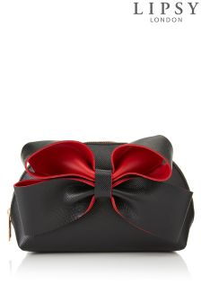 Lipsy Contrast Bow Make Up Bag