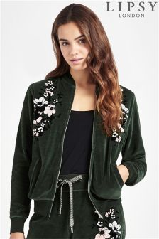 Lipsy Floral Zip Through Bomber