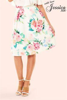 Jessica Wright Floral Print Skater Skirt