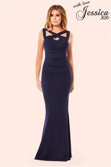 Jessica Wright Cross Over Maxi Dress