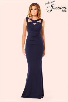 Jessica Wright Cross Over Maxi Dress