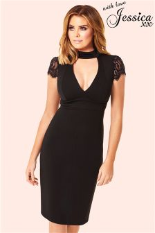 Jessica Wright Keyhole Cutout Bodycon Dress