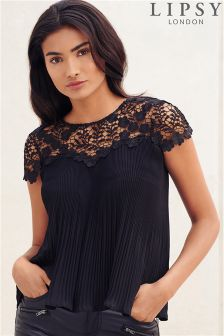 Lipsy Pleated Lace Top