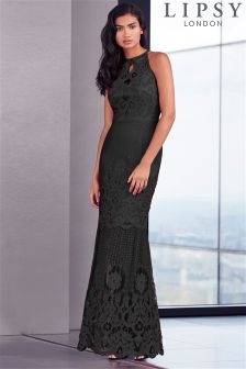 Lipsy All Over Lace Fishtail Maxi Dress