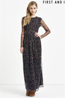 First And I Mesh Top Maxi Dress