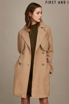 First and I Trench Coat