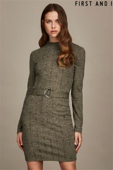 First and I Cardigan Long Sleeves Dress