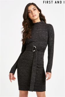 First And I Cardigan Long Sleeve Dress