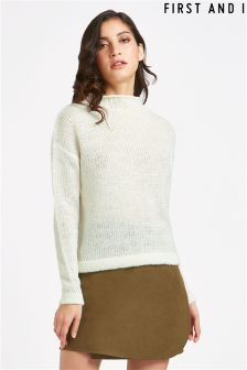 First And I Long Sleeve Knit Top