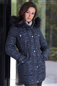 Lipsy Love Michelle Keegan Camouflage Parka