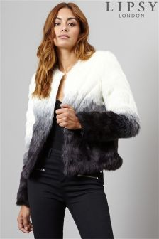 Lipsy Ombre Faux Fur Coat