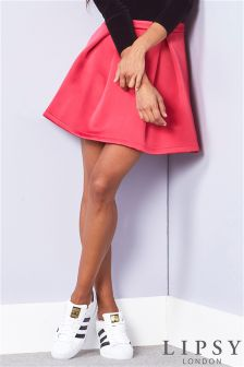 Lipsy Satin Skater Skirt