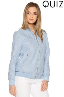 Quiz Lace Bomber Jacket