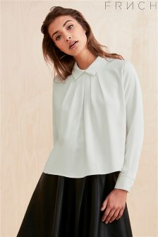 Frnch Pleated Collared Blouse